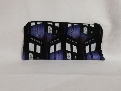 Pencil Case Made With TARDIS Fabric