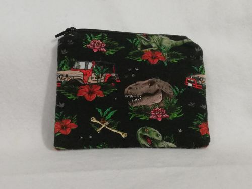 Coin Purse Made With Jurassic Park fabric