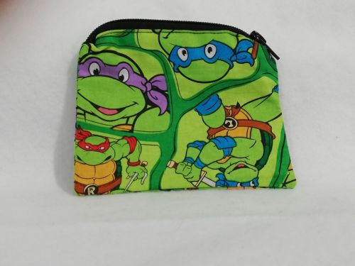 Coin Purse Made With Teenage Mutant Ninja Turtles fabric