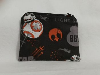 Coin Purse Made With Black BB8 fabric