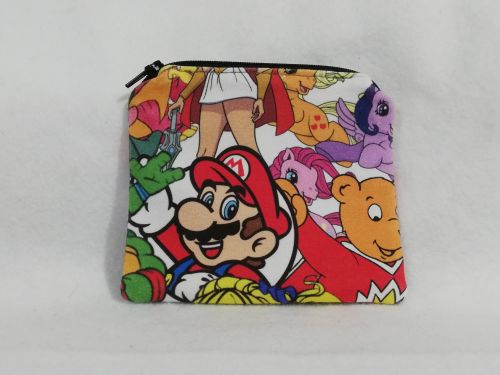 Coin Purse Made With 80's mashup fabric