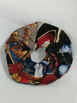Scrunchie Made With Spooky film poster Fabric