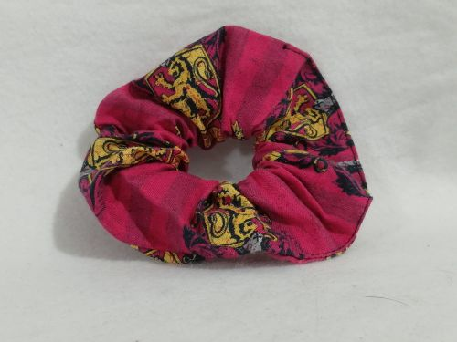 Scrunchie Made With Gryffindor Fabric