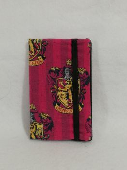 Mini Notebook cover made with Gryffindor Fabric