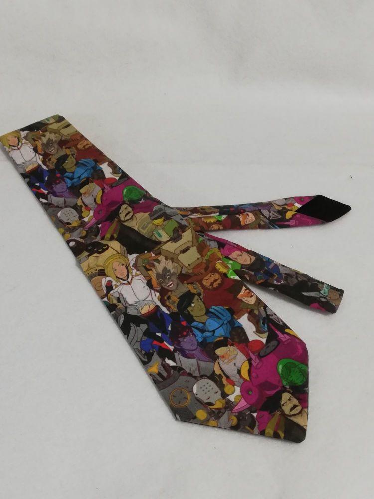 * Slight Seconds * Neck Tie Made Using Overwatch Fabric