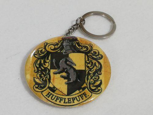 Keyring / Bottle opener made with Hufflepuff fabric