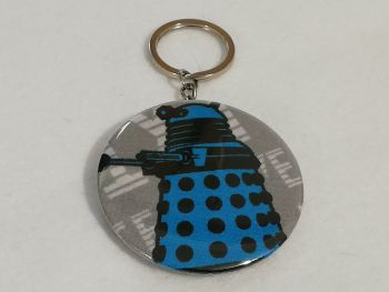 Keyring / Bottle opener made with Dalek fabric