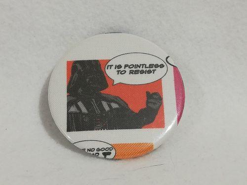 Badge Made With Darth Vader Fabric