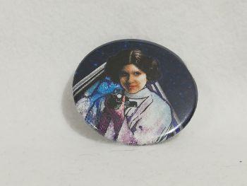Badge Made With Princess Leia Fabric