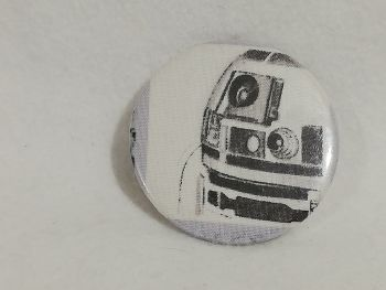 Badge Made With R2D2 Fabric