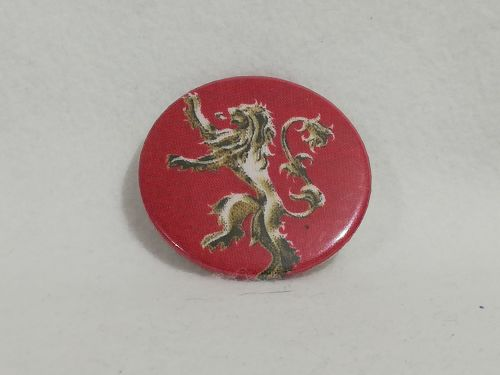 Badge Made With Game Of Thrones Lannester House Fabric