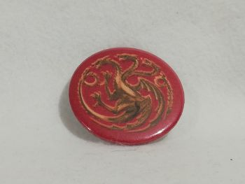 Badge Made With Game Of Thrones Targaryen house Fabric
