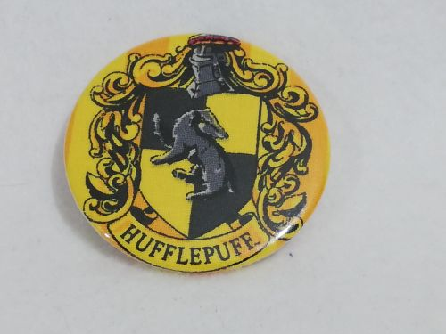 Badge Made With Hufflepuff Fabric