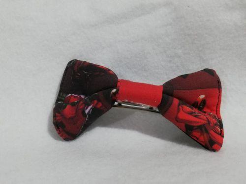 Hair Bow Made With Deadpool Fabric