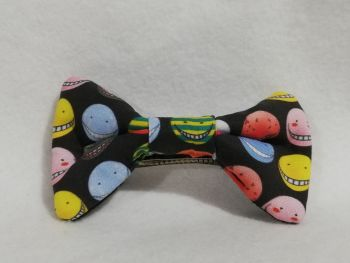 Hair Bow Made With Assassination Classroom Fabric Small Print