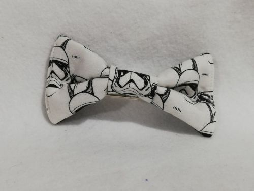 Hair Bow Made With storm Troopers Fabric