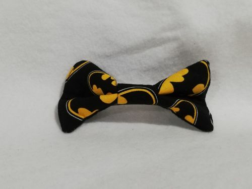 Hair Bow Made With Batman Fabric
