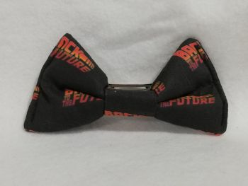 Hair Bow Made With Back To The Future Fabric