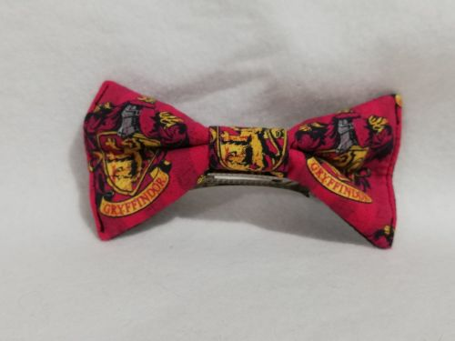 Hair Bow Made With Gryffindor Fabric