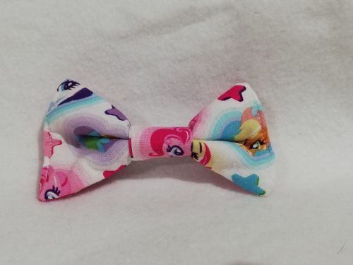 Hair Bow Made With White MLP Fabric