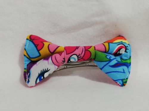 Hair Bow Made With Large packed MLP Fabric