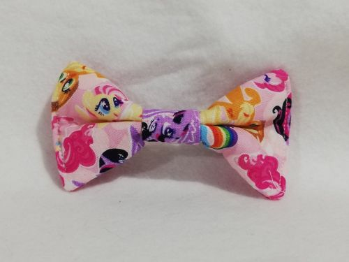 Hair Bow Made With Pink MLP Fabric
