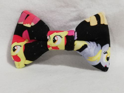 Hair Bow Made With Black MLP Fabric