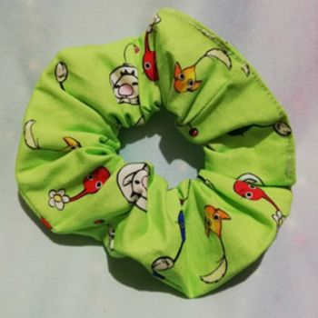 Scrunchie Made with Pikmin Inspired Fabric