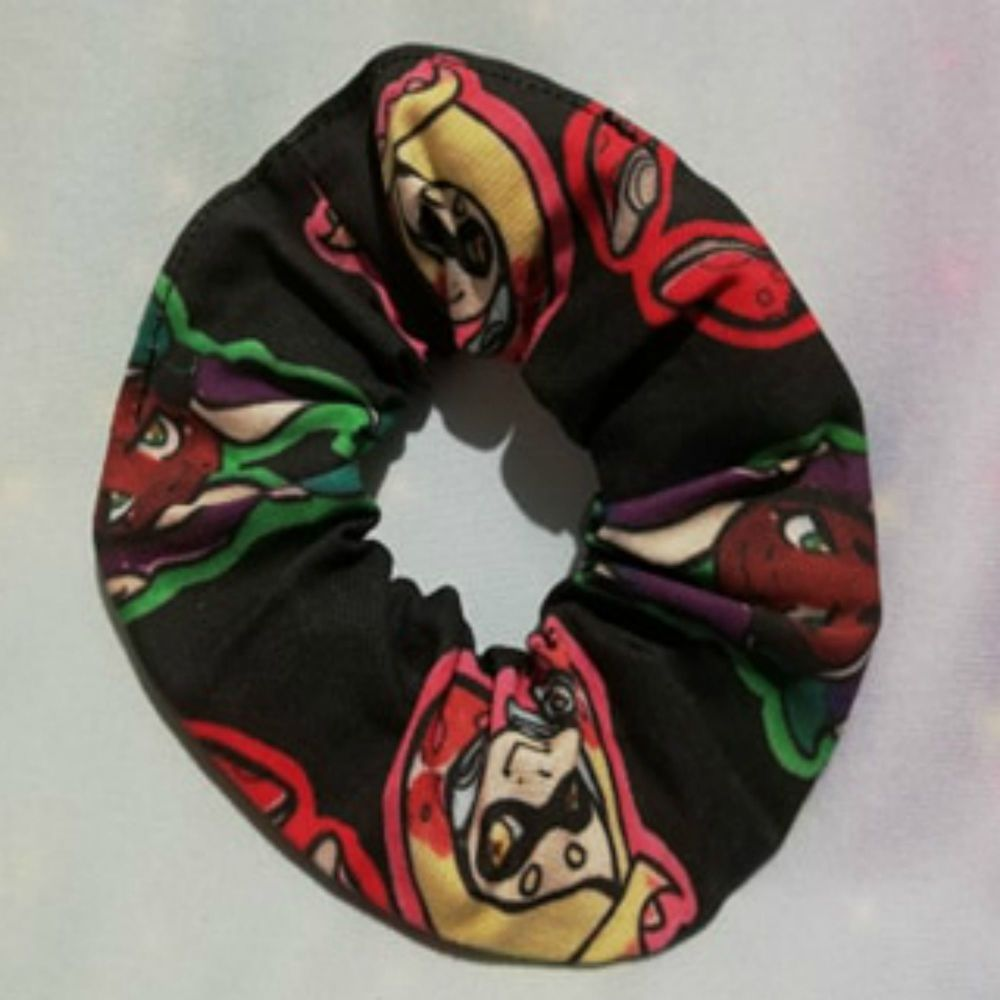 Scrunchie Made With Large Scale Splatoon Inspired Fabric