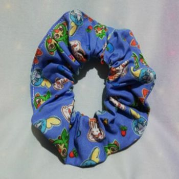 Scrunchie Made With Pokemon Galar Region Fabric