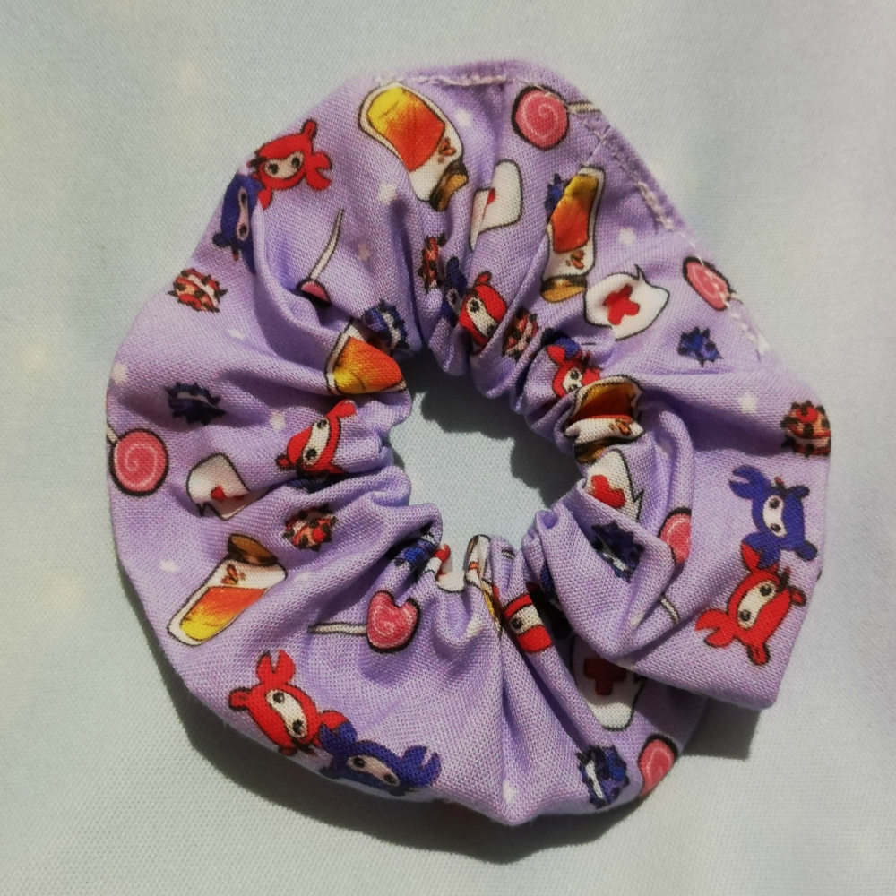 Scrunchie Made With Team Fortress 2 Inspired Fabric