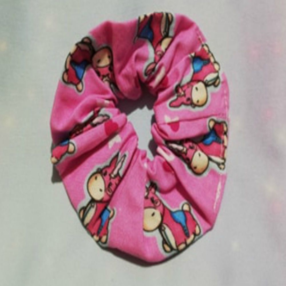 Scrunchie Made With Team Fortress 2 Inspired Fabric - Balloonicorn