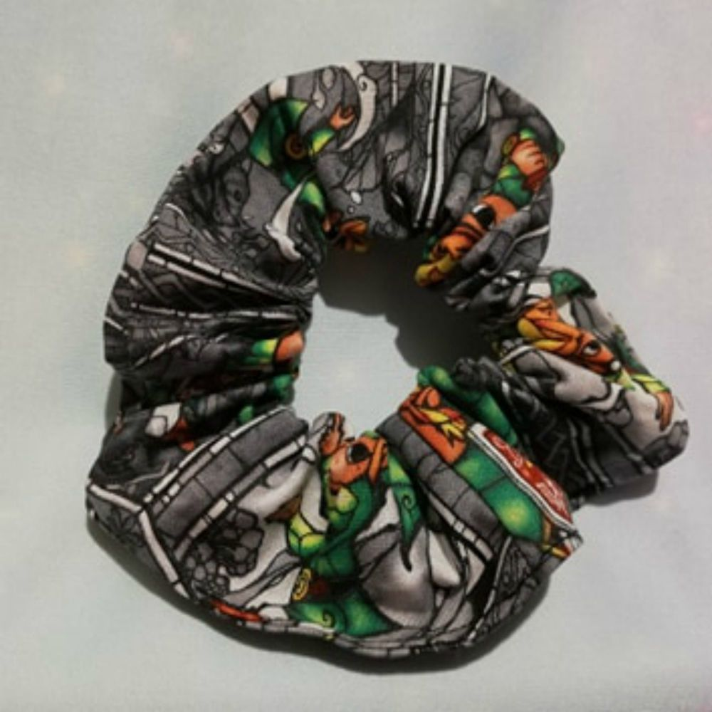 Scrunchie made With The Legend Of Zelda Fabric - Grey