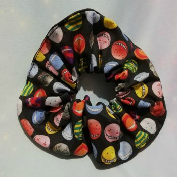 Scrunchie Made with Assassination Classroom Inspired Fabric
