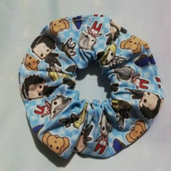Scrunchie Made With Yuri On Ice Inspired Fabric