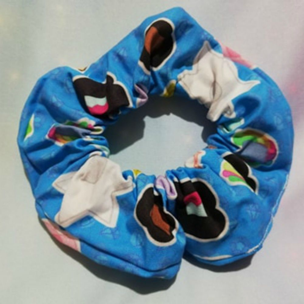 Scrunchie Made With Stephen universe Inspired Fabric