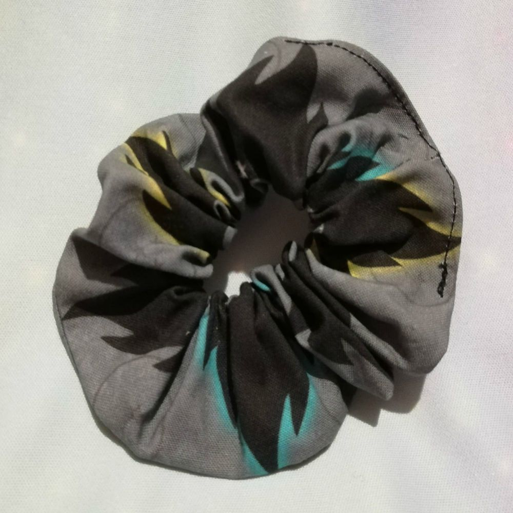 Scrunchie Made With Dragon Ball Z Inspired Fabric - Vegetas Hair