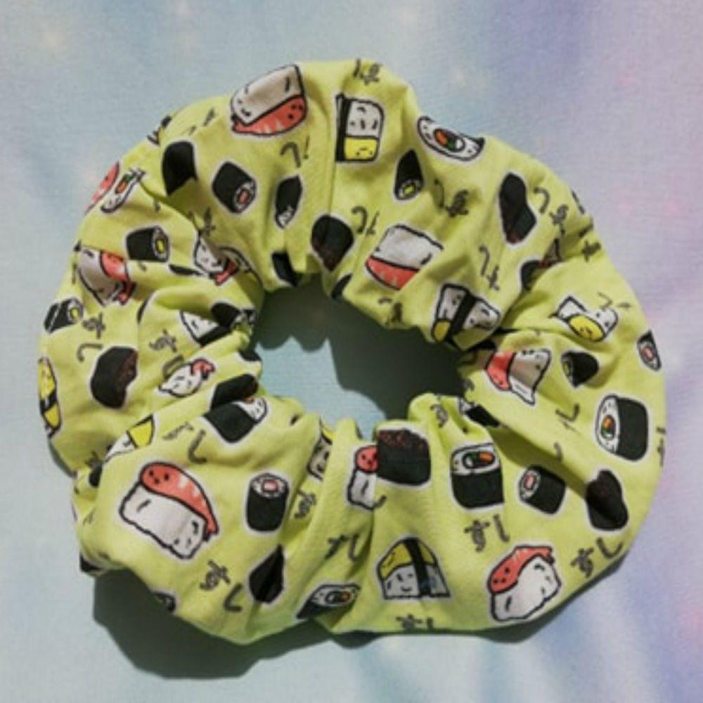 Scrunchie Made With Kawaii Sushi Fabric