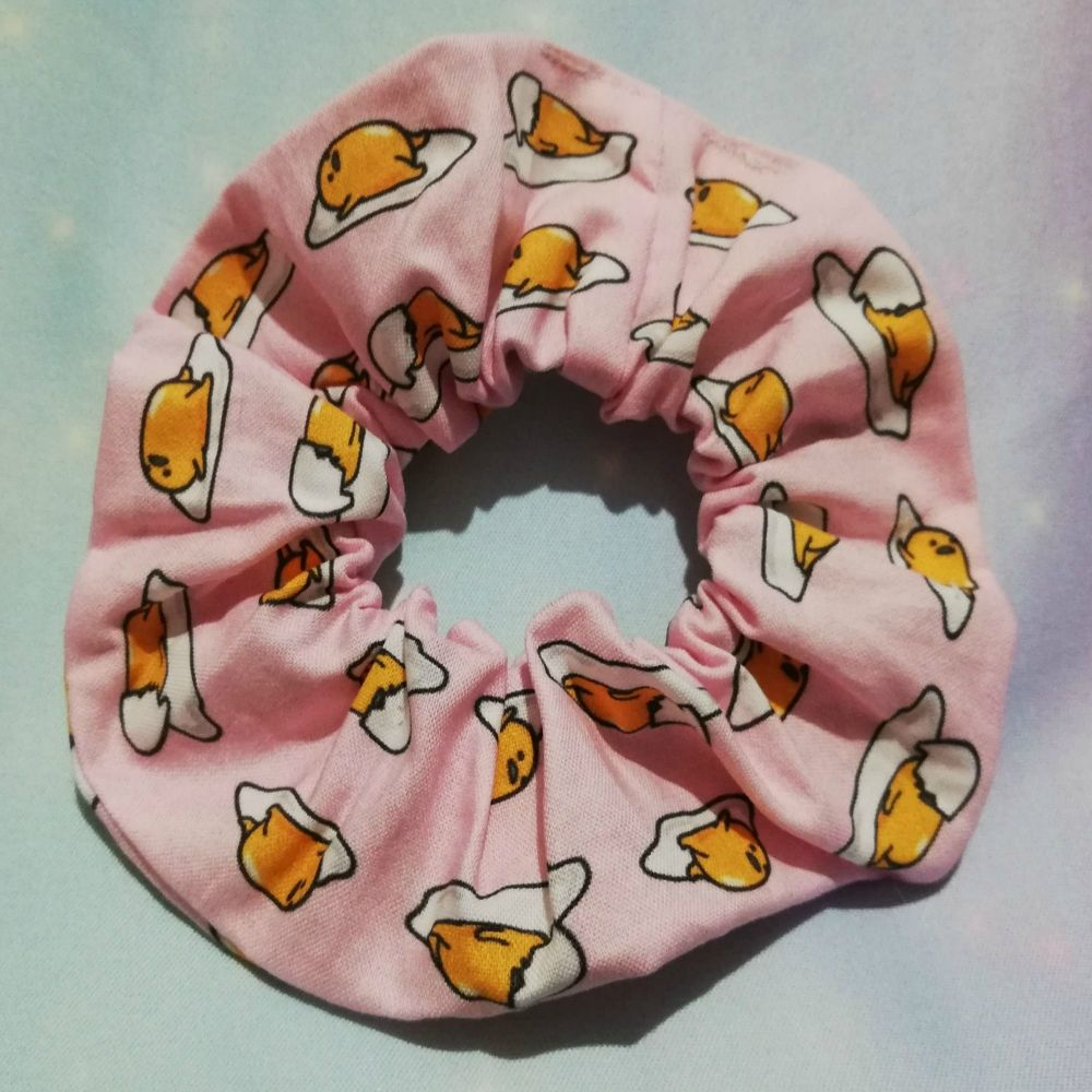 Scrunchie Made With Gudetama Inspired Fabric