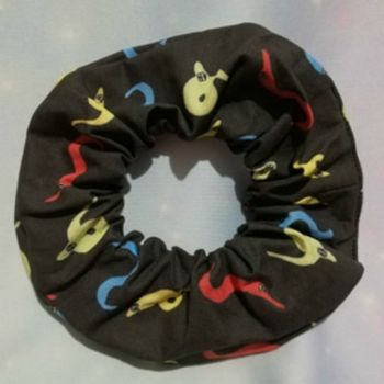 Scrunchie Made With Worm On A String Fabric
