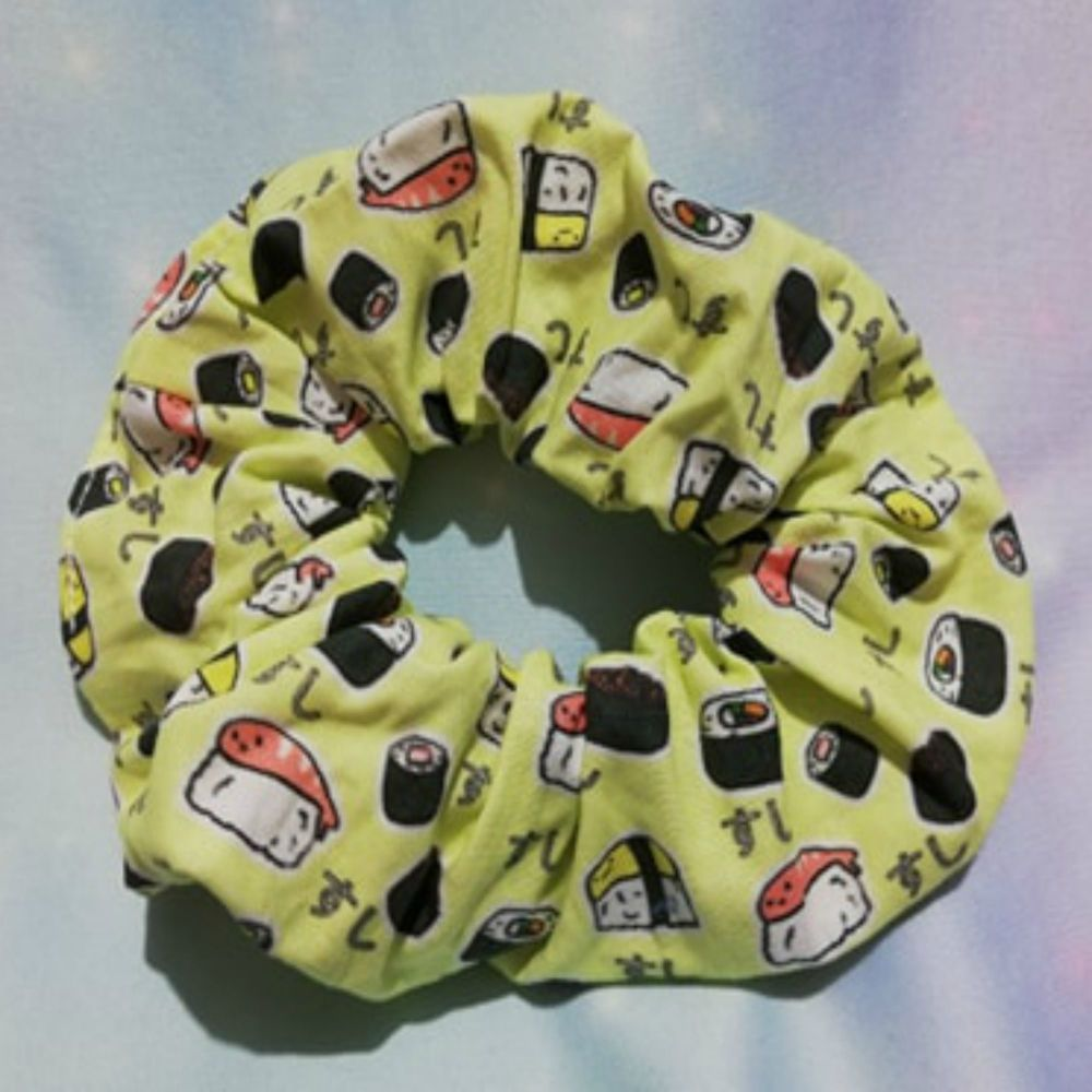 Scrunchie Made With Sushi Fabric