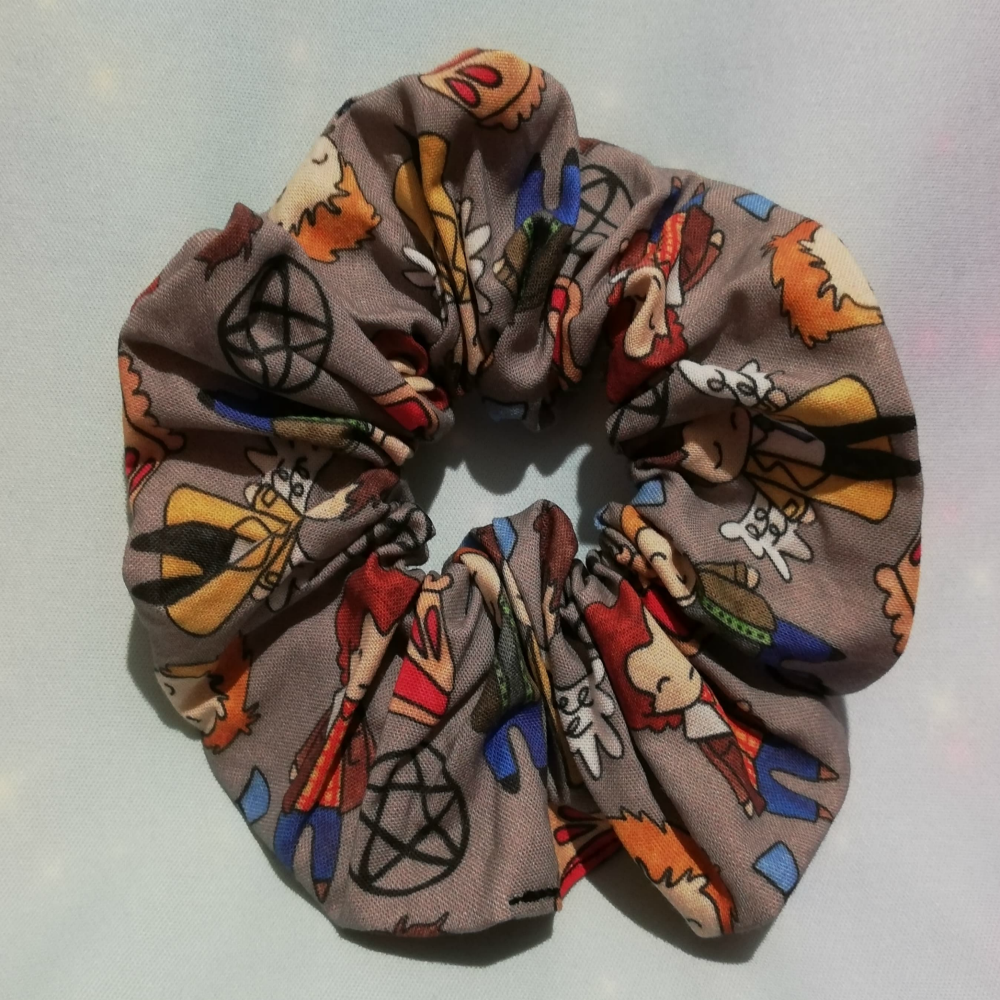 Scrunchie Made With Supernatural Inspired Fabric