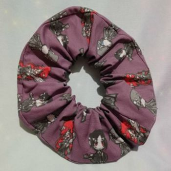 Scrunchie Made With Black Butler Inspired Fabric - Exclusive