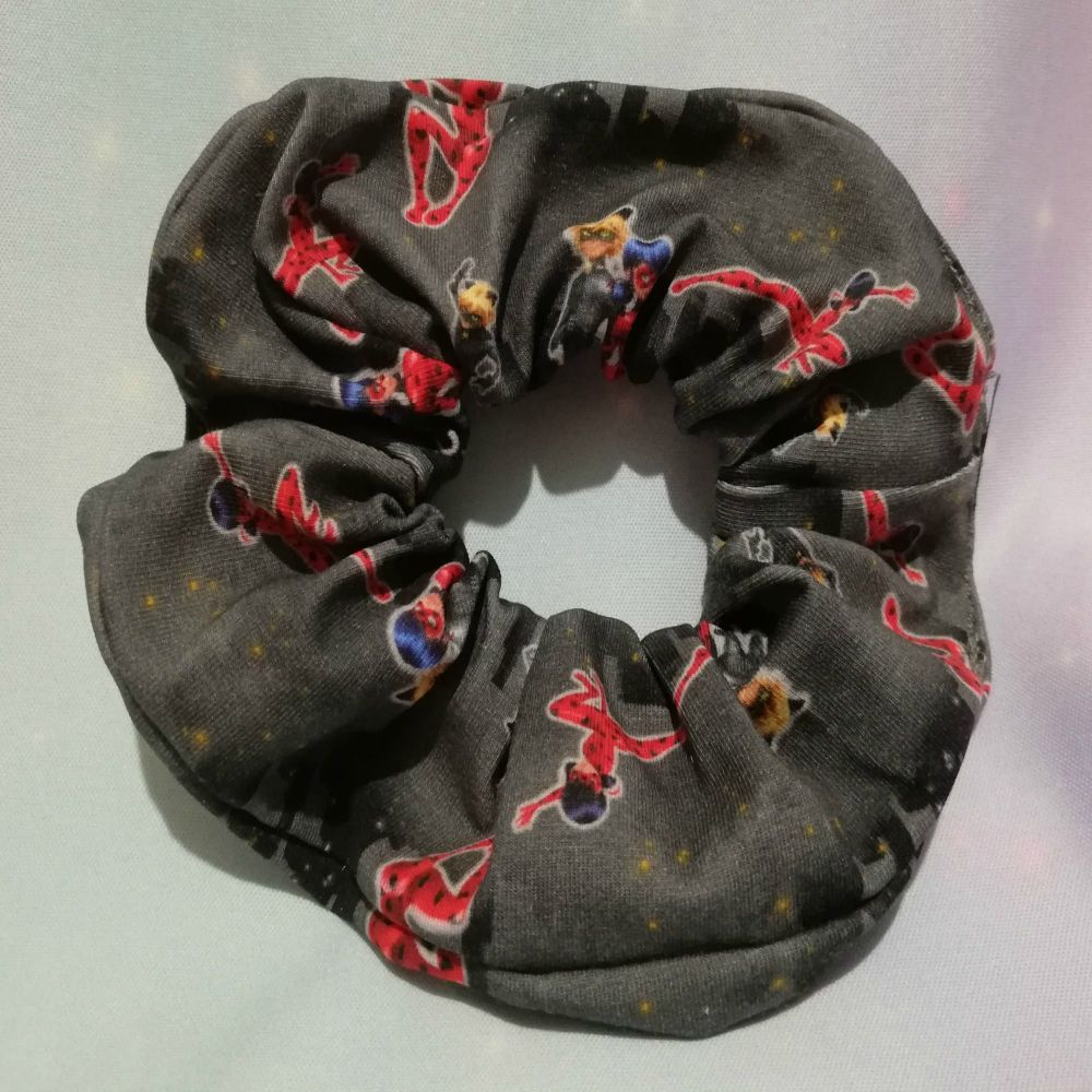 Scrunchie Made With The Marvellous Adventures of Lady Bug And Cat Noir Insp