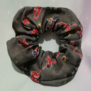 Scrunchie Made With The Marvellous Adventures of Lady Bug And Cat Noir Inspired Fabric