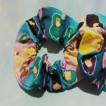 Scrunchie Made With Sailor Moon Inspired Fabric - Faces