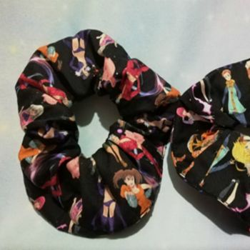 Scrunchie Made With Seven Deadly Sins Inspired Fabric
