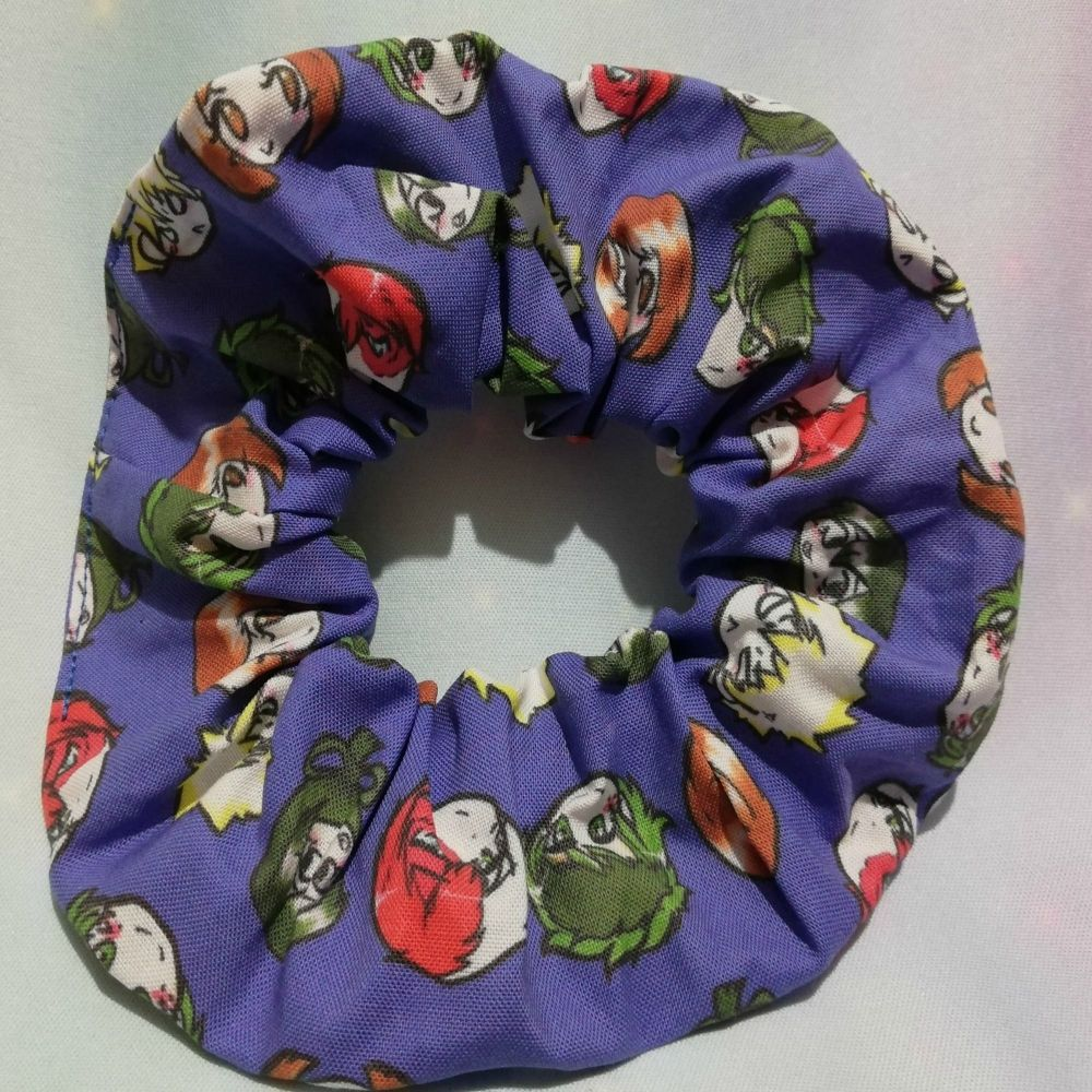 Scrunchie Made With My Hero Academia Inspired Fabric - Heroes