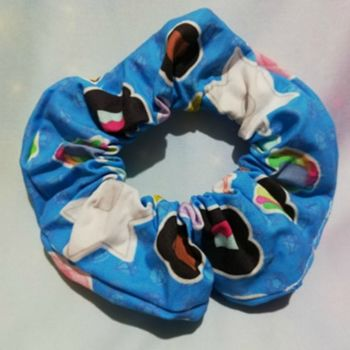 Scrunchie Made With Stephen universe Inspired Fabric - Faces