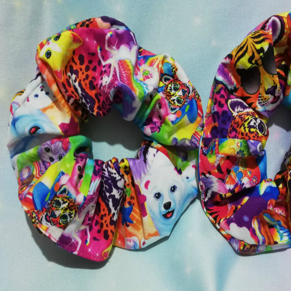 Scrunchie Made With Lisa Frank Inspired Fabric